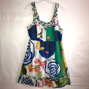 Aryeh SunDress floral print color blocking